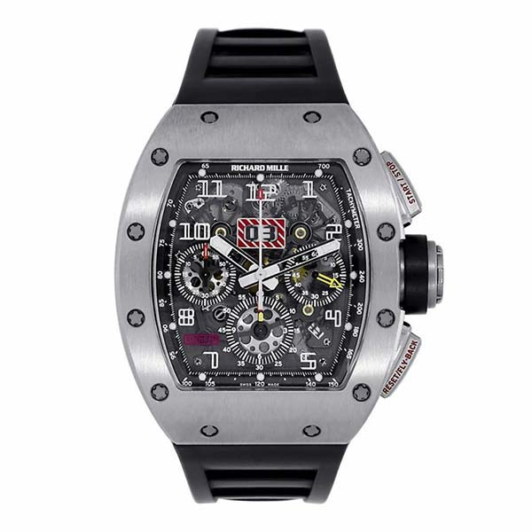 Часы Richard Mille RM 011 White Gold фото