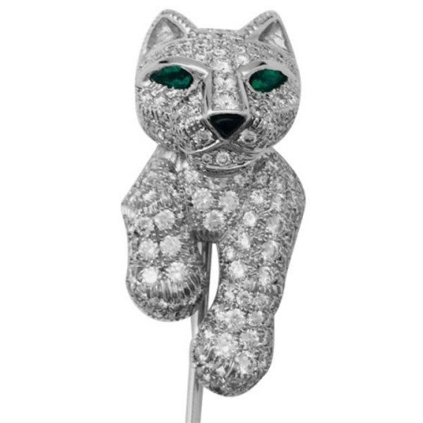Ювелирные украшения Cartier Panther Jabot Pin Brooch фото