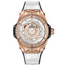 Фото часов Hublot Big Bang One Click Sang Bleu King Gold White Diamonds