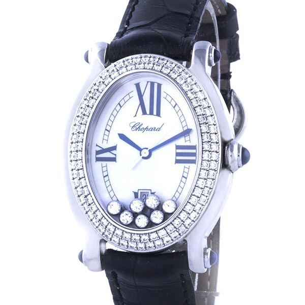 Часы Chopard Happy Sport Oval Diamonds Steel фото