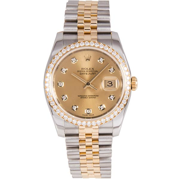 Часы Rolex Datejust Steel and Yellow Gold Diamonds фото