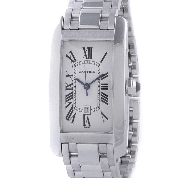 Часы Cartier Tank Americaine Automatic White Gold фото