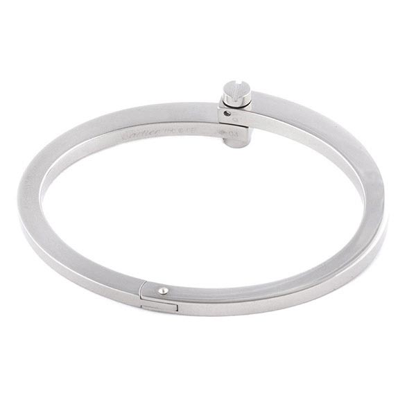 Ювелирные украшения Cartier Menotte Bangle Bracelet White Gold фото