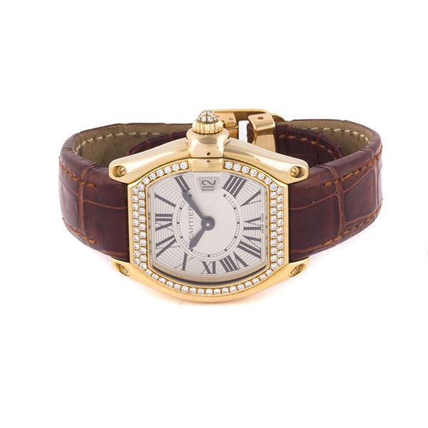 Часы Cartier Roadster Ladies Gold фото