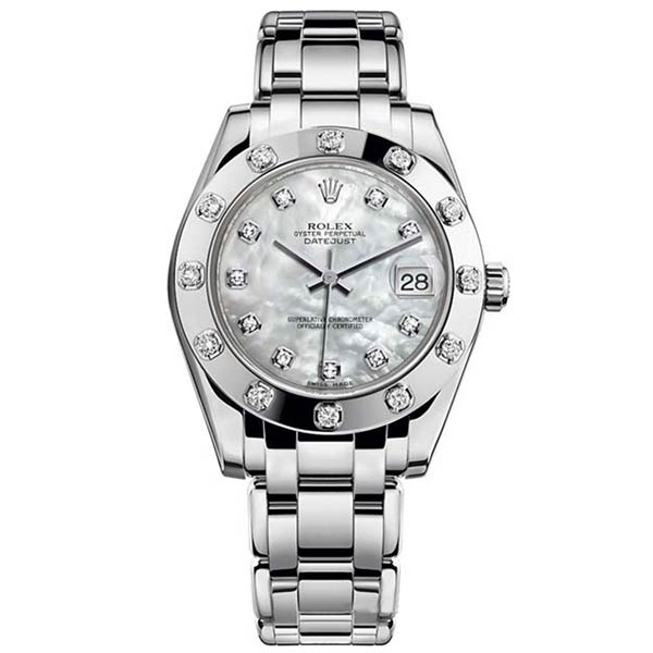 Часы Rolex Pearlmaster White Gold 34 mm фото