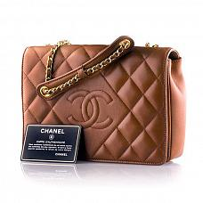 Аксессуары Chanel Brown Lambskin Vintage Classic Single Flap Bag фото