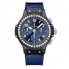 Часы Hublot Big Bang Ceramic Blue Diamonds 41 mm фото