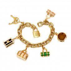 Ювелирные украшения Louis Vuitton Padlock and Keys Gold Charm Bracelet фото
