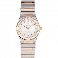 Часы Omega Constellation Iris Steel Yellow Gold Multi Stone фото