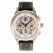 Часы Perrelet Skeleton Dual Time Chronograph Steel 42mm фото
