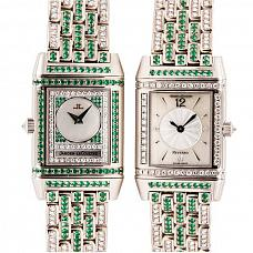 Часы Jaeger-LeCoultre Reverso Duetto Diamond and Emeralds фото
