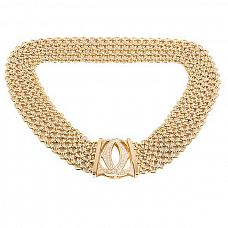 Ювелирные украшения Cartier Penelope Diamond Double C Fife-Row Yellow Gold Necklace фото