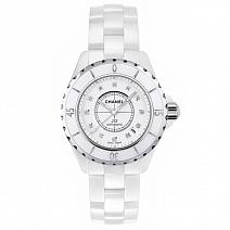 Часы Chanel J12 38mm White Ceramic&Steel Diamond  фото