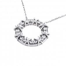 Ювелирные украшения Tiffany & Co Schlumberger Sixteen Stone Platinum Pendant фото