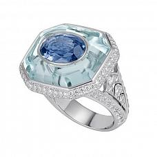 Ювелирные украшения Cartier High Jewelry Ring ''Stone-in-stone'' Sapphire 5,44 ct фото