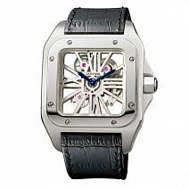 Часы Cartier Santos 100 Skeleton Watch XL Palladium фото