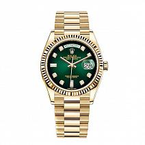 Часы Rolex Day-Date 36 mm 2019 Green Dial Diamond фото