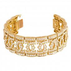 Ювелирные украшения Cartier Double C Diamond Gold Wide Bracelet фото